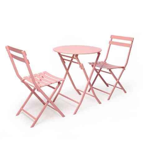 Garden Set Outdoor Furniture Garden Furniture Patio Furniture Muebles De Jardin Iron 1 Table+2 Chairs Set Folding Outdoor Set