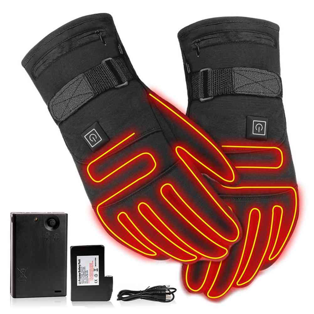 Winter Motorcycle Gloves Water-resistant Heated Gloves Motorbike Racing Riding Gloves Touch Screen Battery Powered Drop Shipping