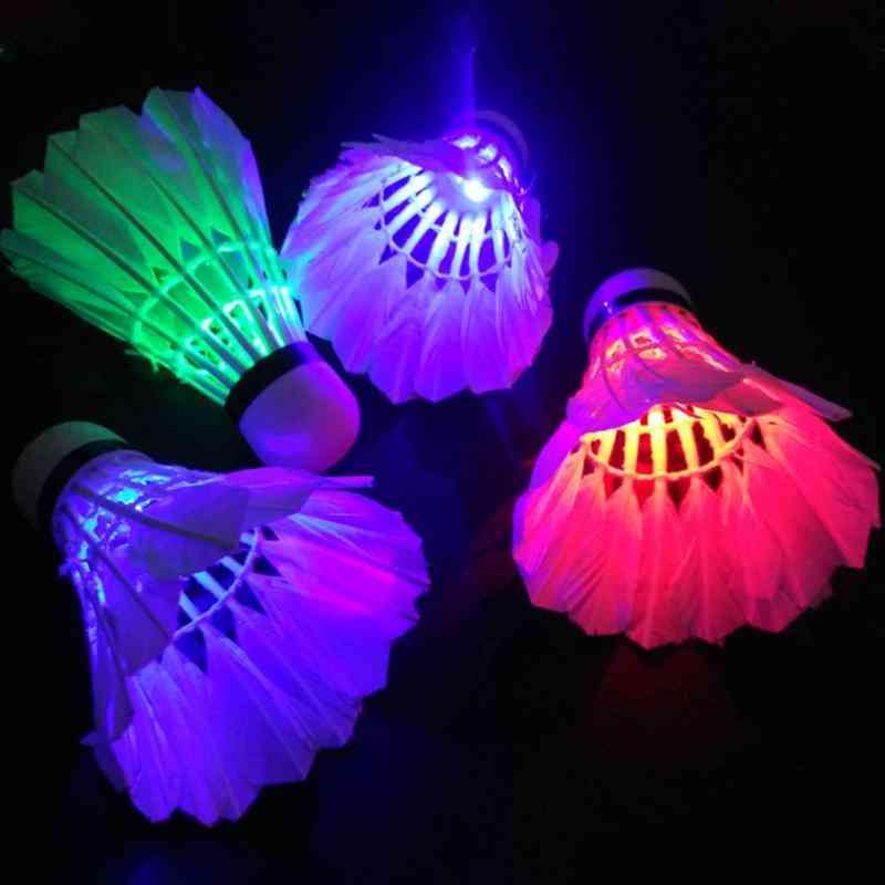 Dark Night Colorful Led Lighting Sport Badminton, Light Spot Shuttle Cock
