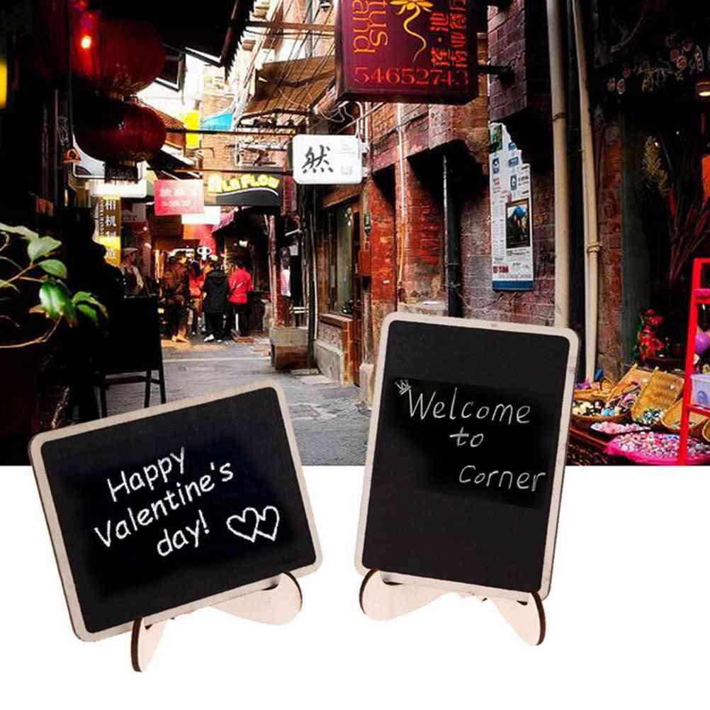Mini Wooden Message Blackboard, Chalkboard With Stand