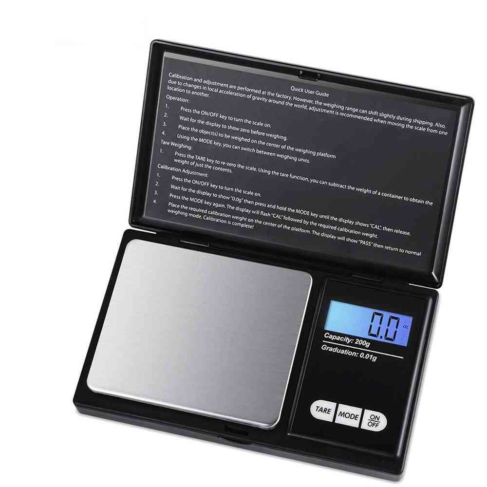 Scale Jewelry Stainless Steel Electronic Weight Scale Digital Pocket Scale