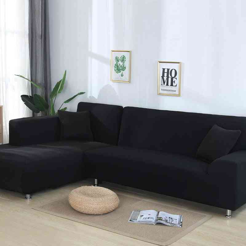 Solid Color Elastic Slipcovers, Sofa Towel Covers