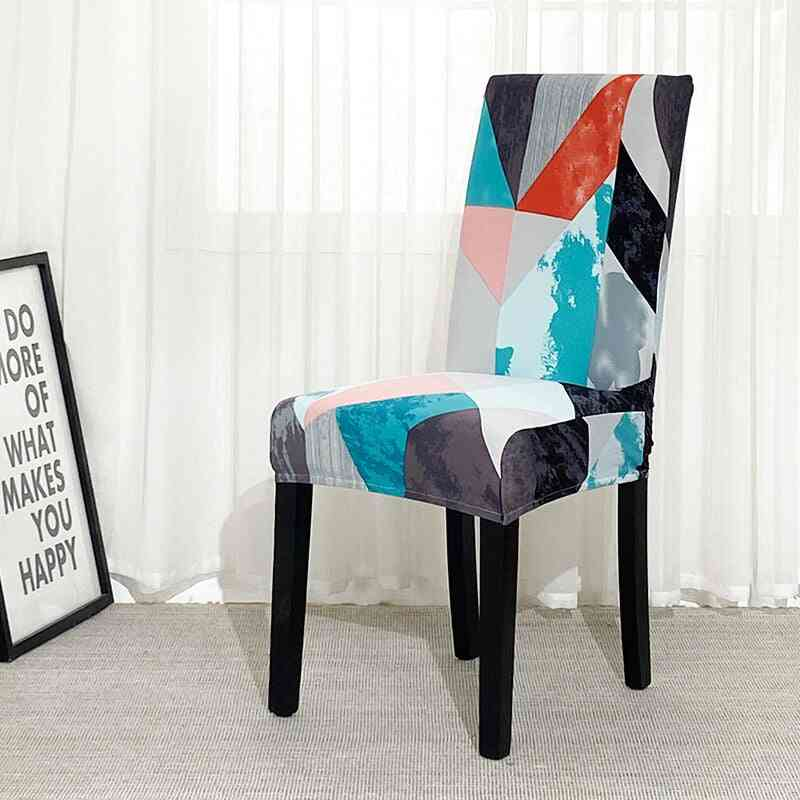 Printed Stretch Elastic Chair Cover For Dining Room