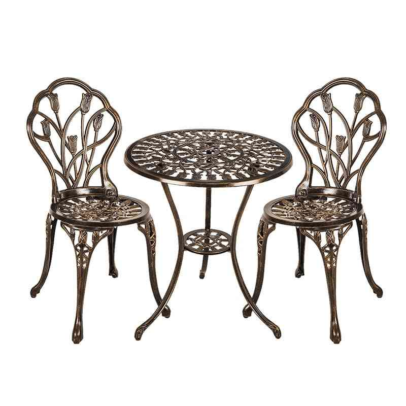 Aluminum Tables And Chairs Set For Garden And Balcony..