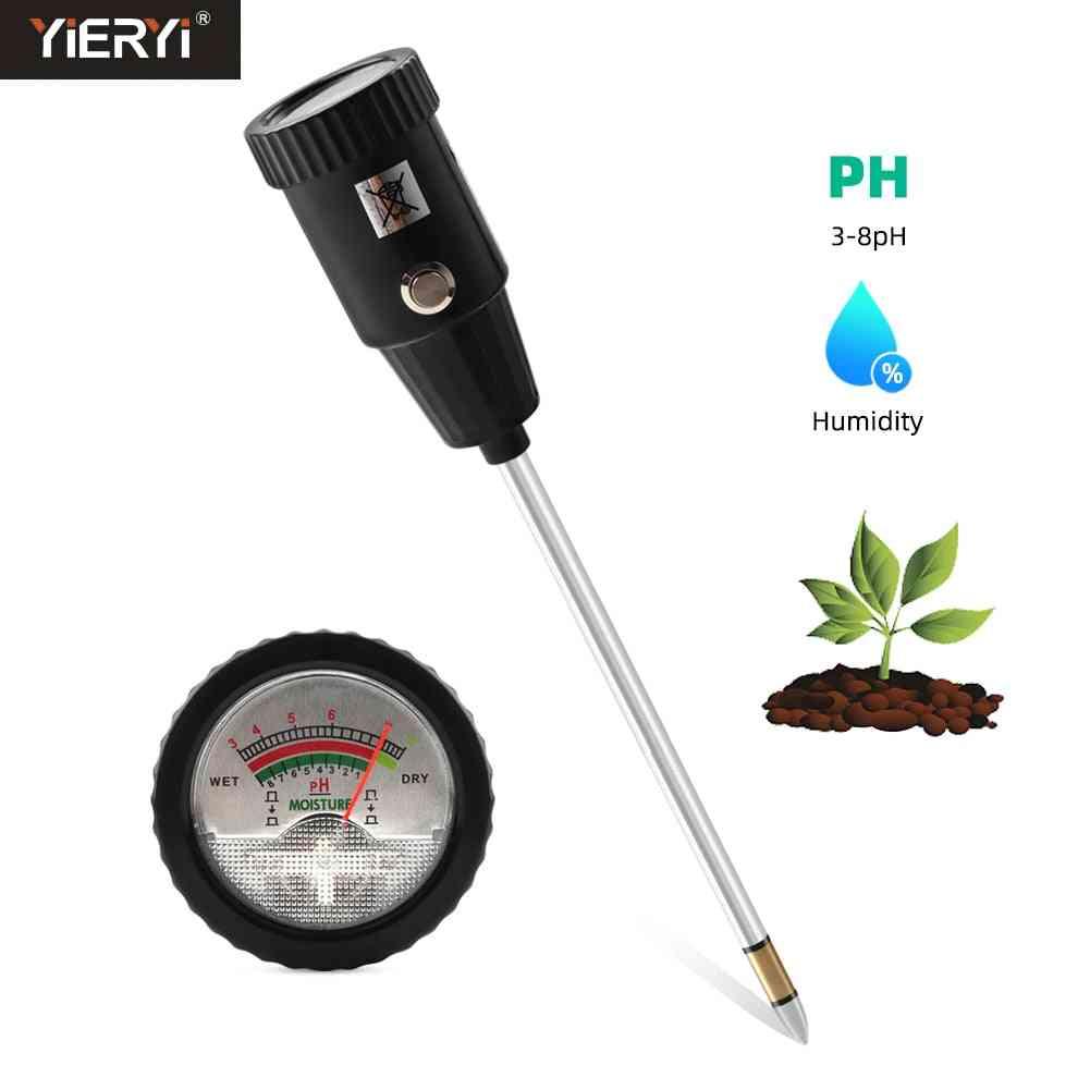 Soil Moisture Ph Meter 3-8ph Humidity Analyzer Acidity Tester