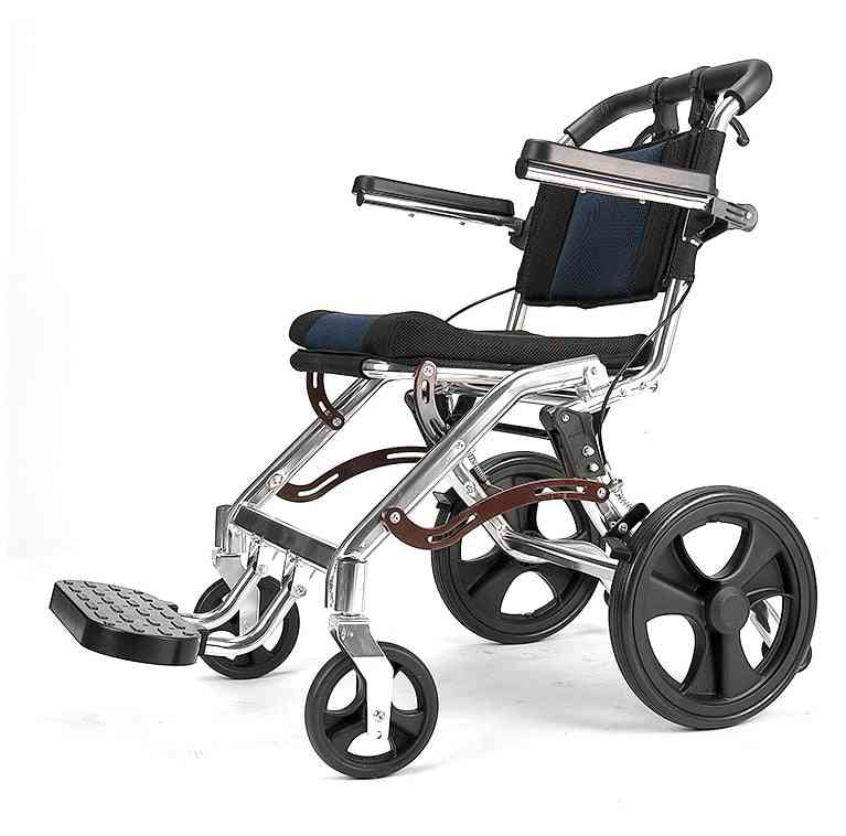 Elderly Wheelchair Foldable, Portablefor Elderly Disabled People Inflatable Walking..