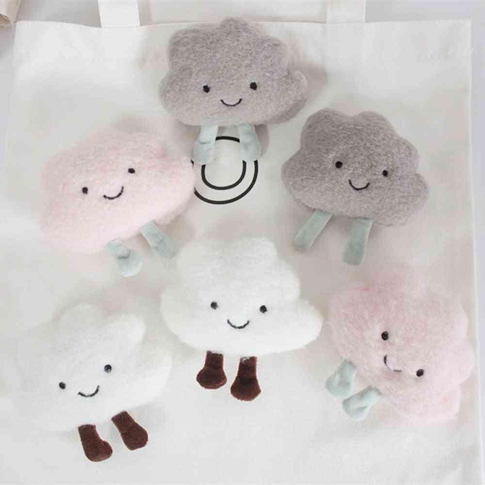 Cartoon Plush Cloud Brooch Clothes