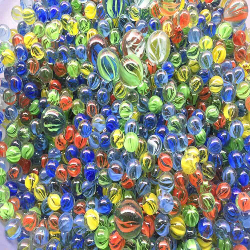 Cats Eyes Shooter & Marbles Colorful Patterned Glass Beads Balls