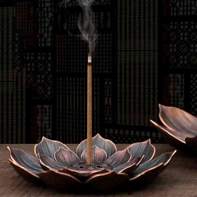 Buddhism Lotus Censer Bronze Nasturtium Incense Burner