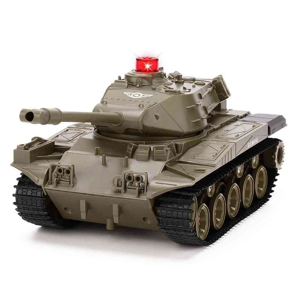 Remote Control Programmable Crawler Tank, Sound Effects Military Tank Toy