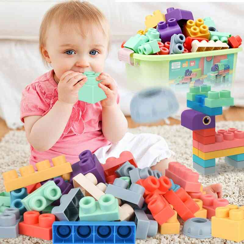 Soft Building Blocks For Baby Soft Teethers Blocks Toy