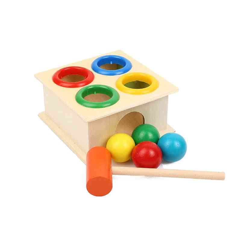 Colorful Hammering Wooden Ball With Box
