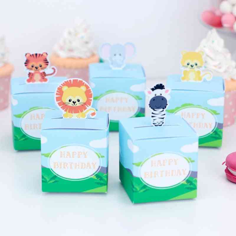 Favor Box, Animal Swan Space Candy Bags