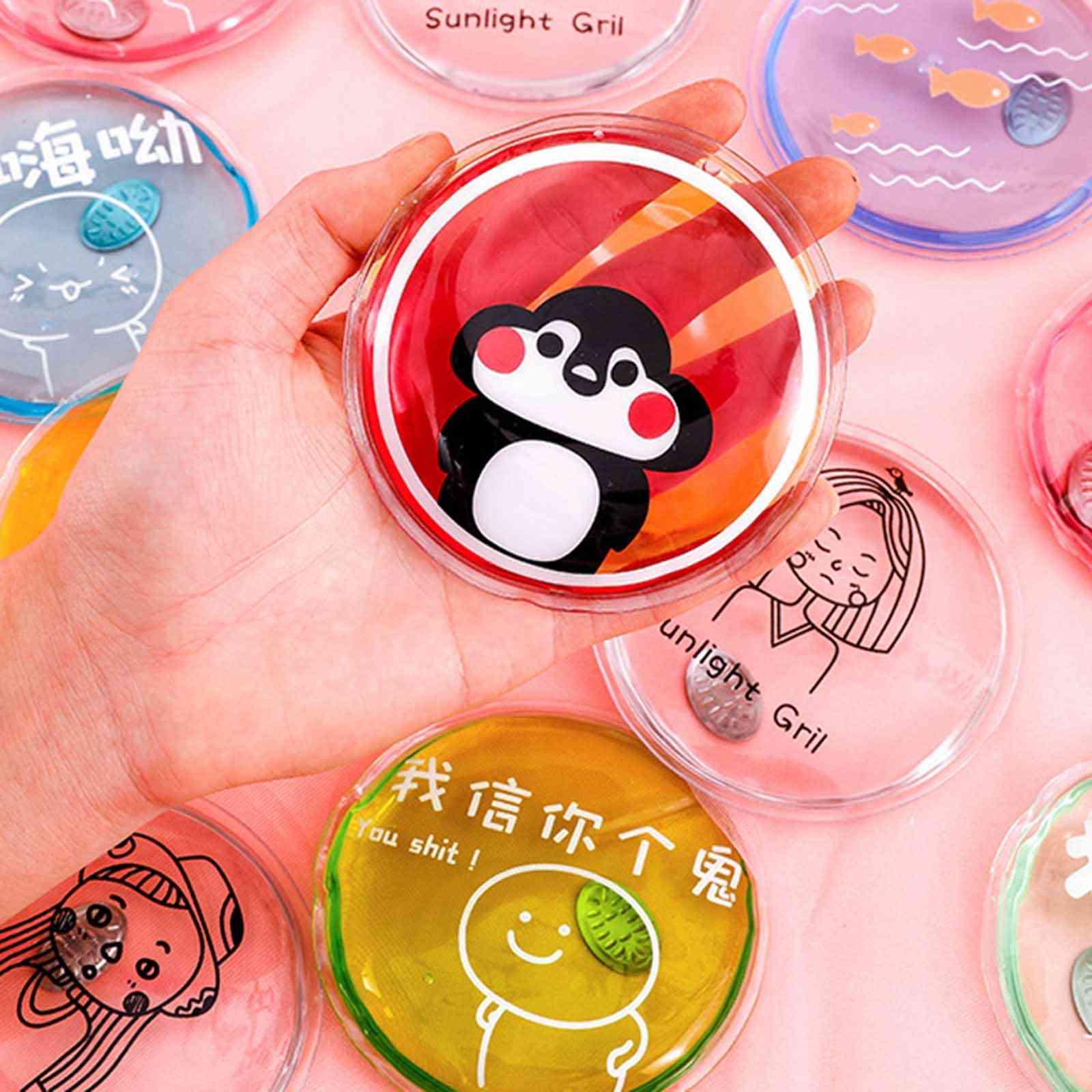 Winter Reusable Hand Warmer Cute Cartoon Portable Round Hand Warmer