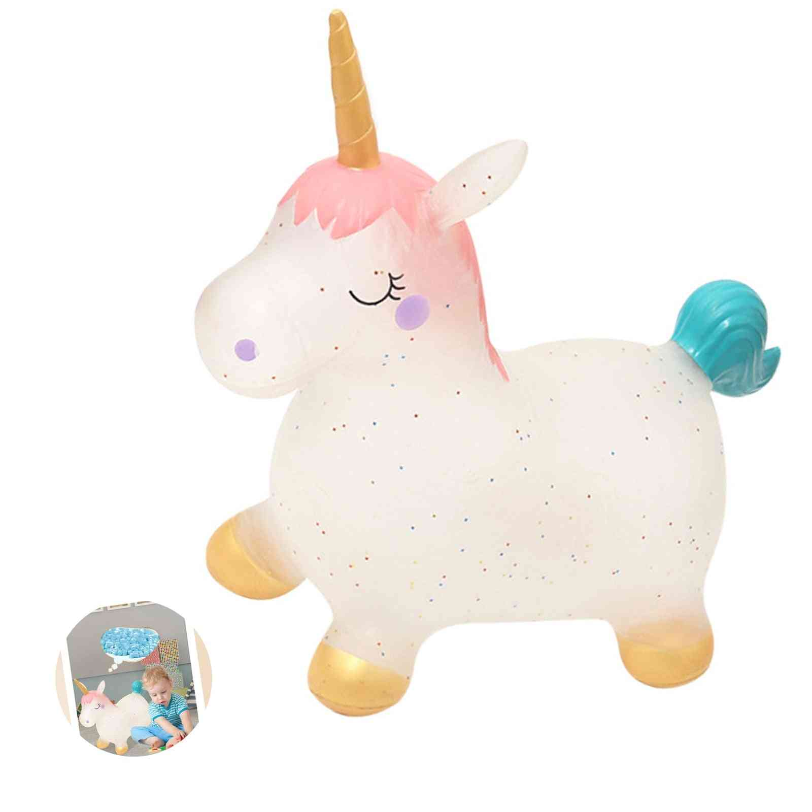 Cute Baby Inflatable Lovely Unicorn Toy With Outdoor Sports Games Toy