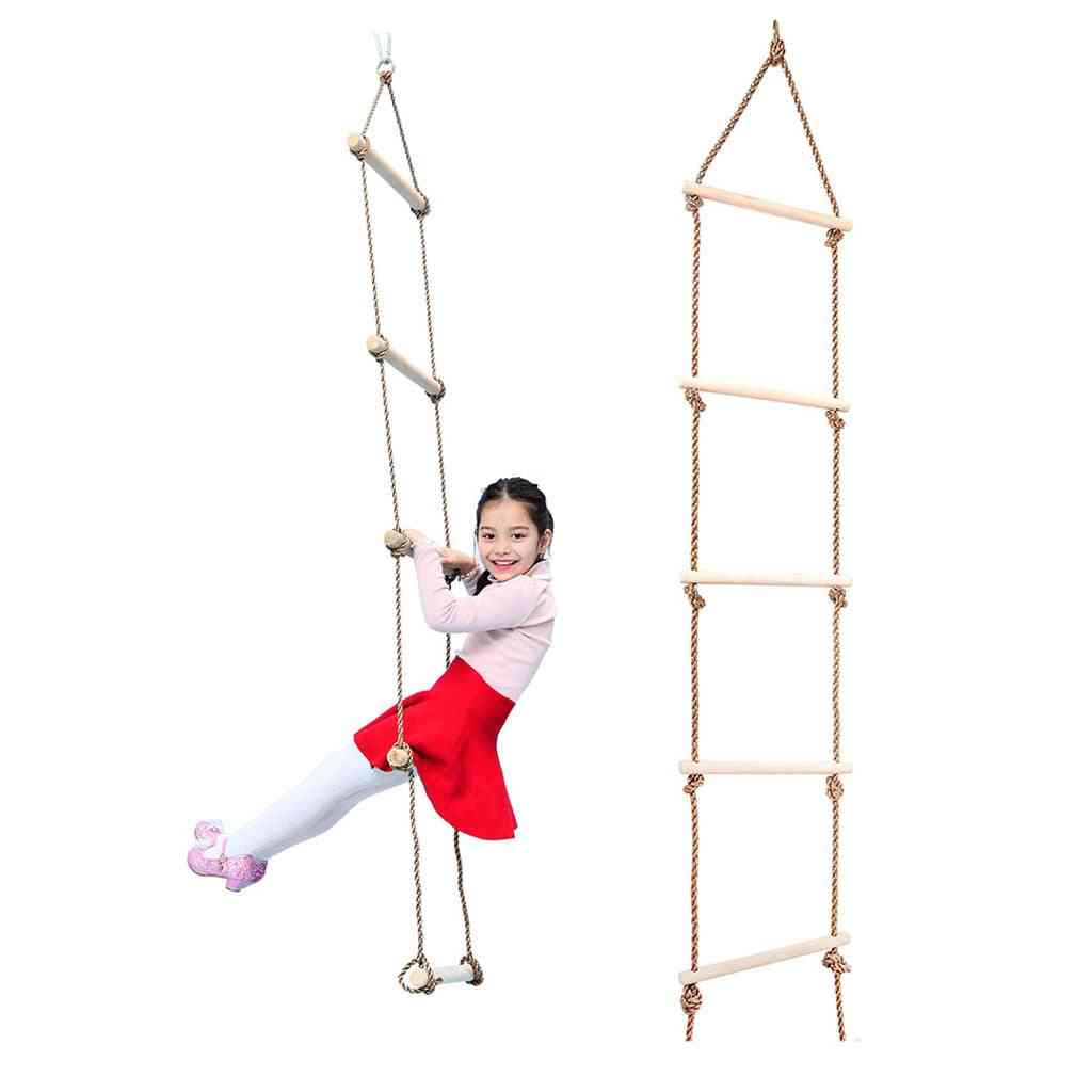 Kids Wooden Rope Climbing Ladder Toy