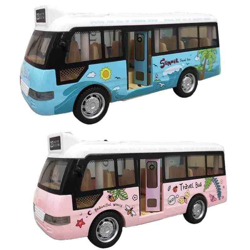 School Bus Sound Light Tour Bus Model Boy Toy