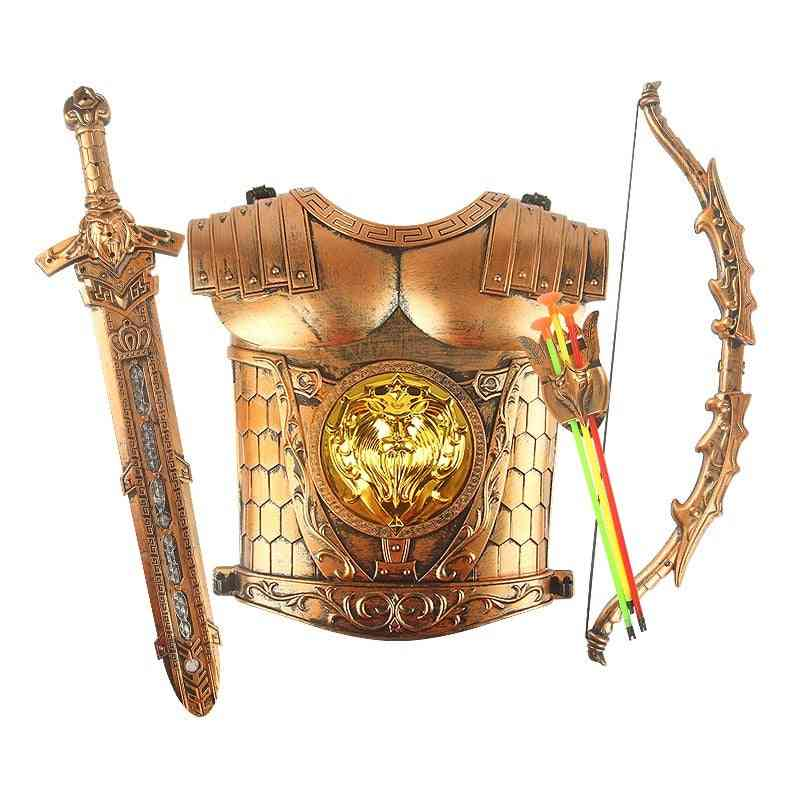 Brand New's Plastic Swords Bows Arrows And Armor Shields.
