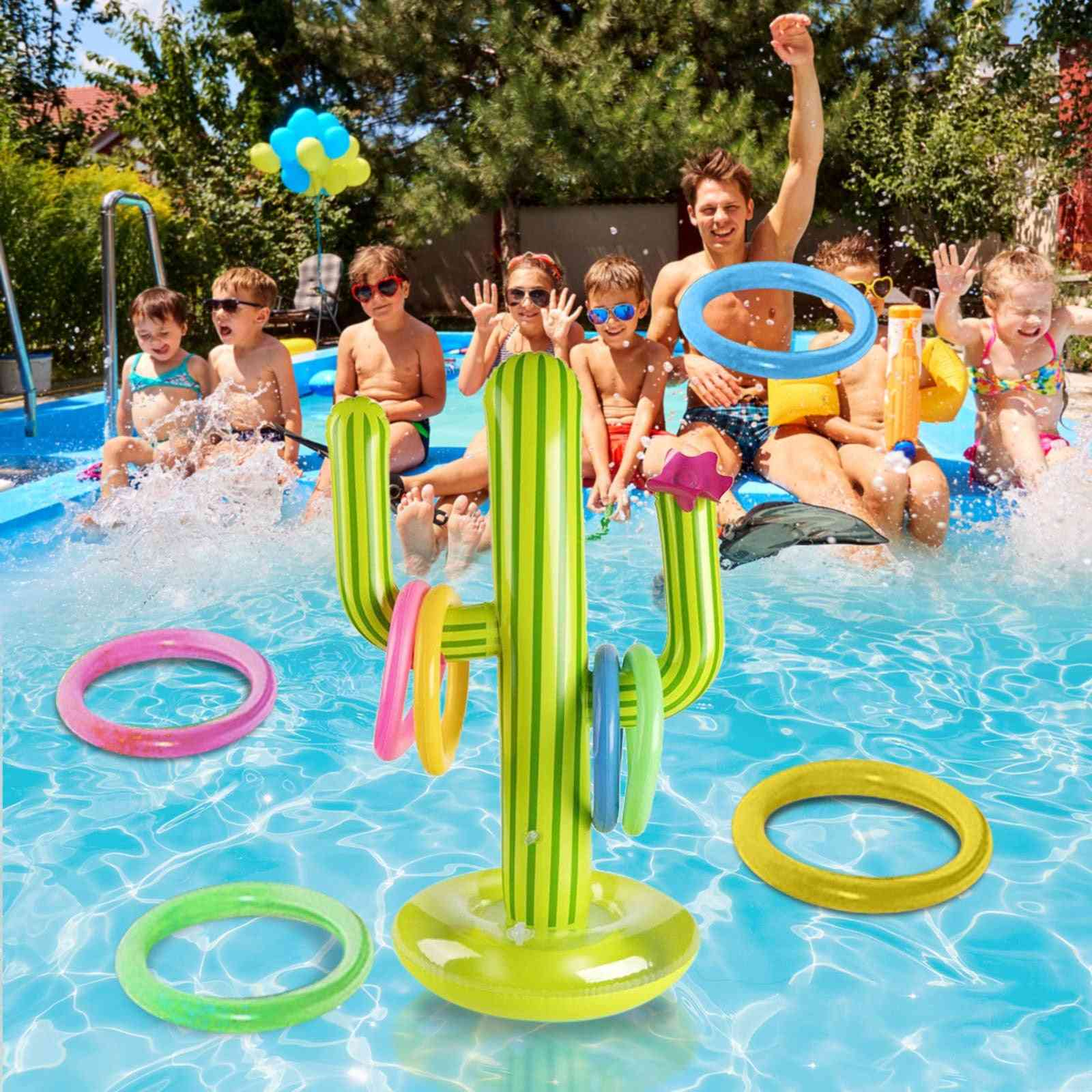 Summer Inflatable Cactus Swimming Pool Accessories Ring Toss