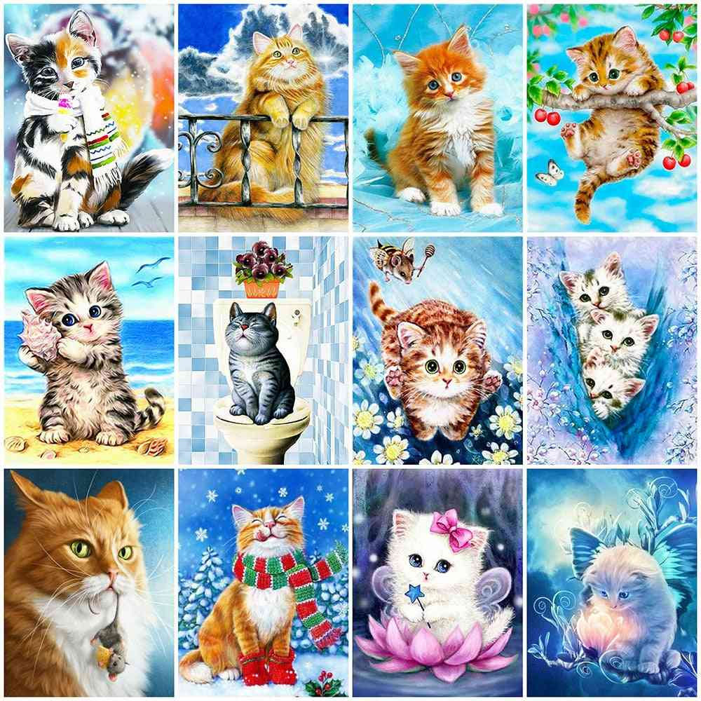 Diamond Painting Full Square Cat Embroidery