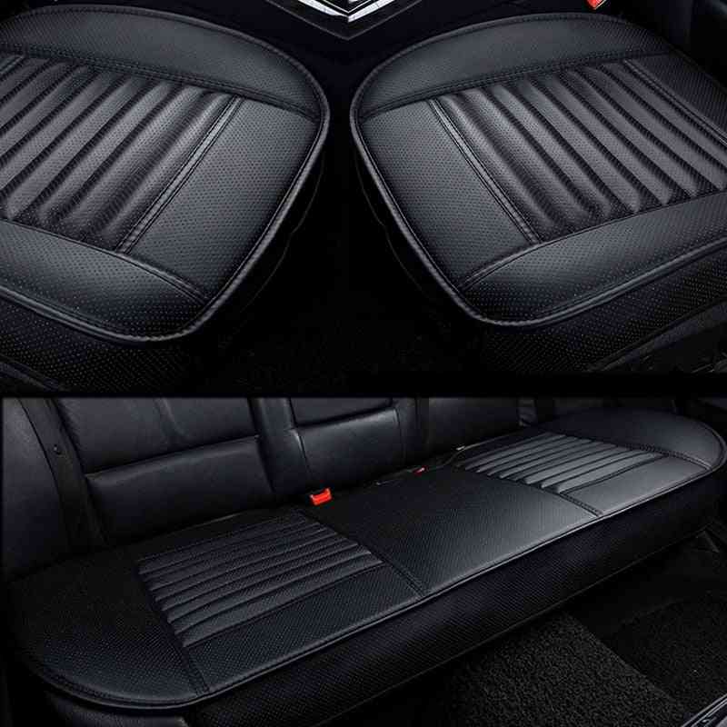 Seat Covers Car Pu Leather Auto Chair Cushion Four Seasons Automobiles Seat Cover Universal Pad Mats Protectors Car Accessories
