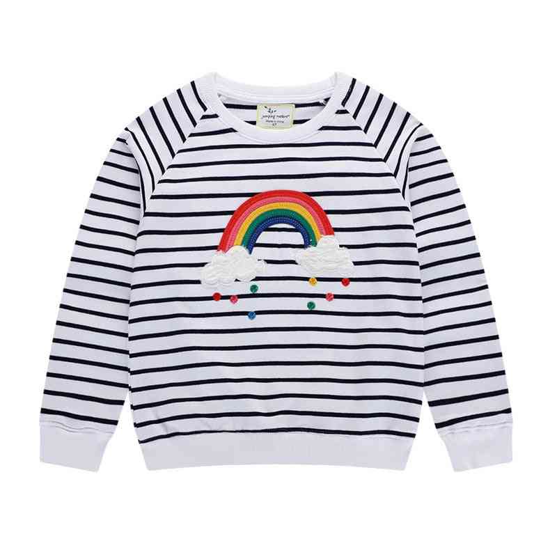 Stripe Rainbow Applique Toddler Sweatshirts