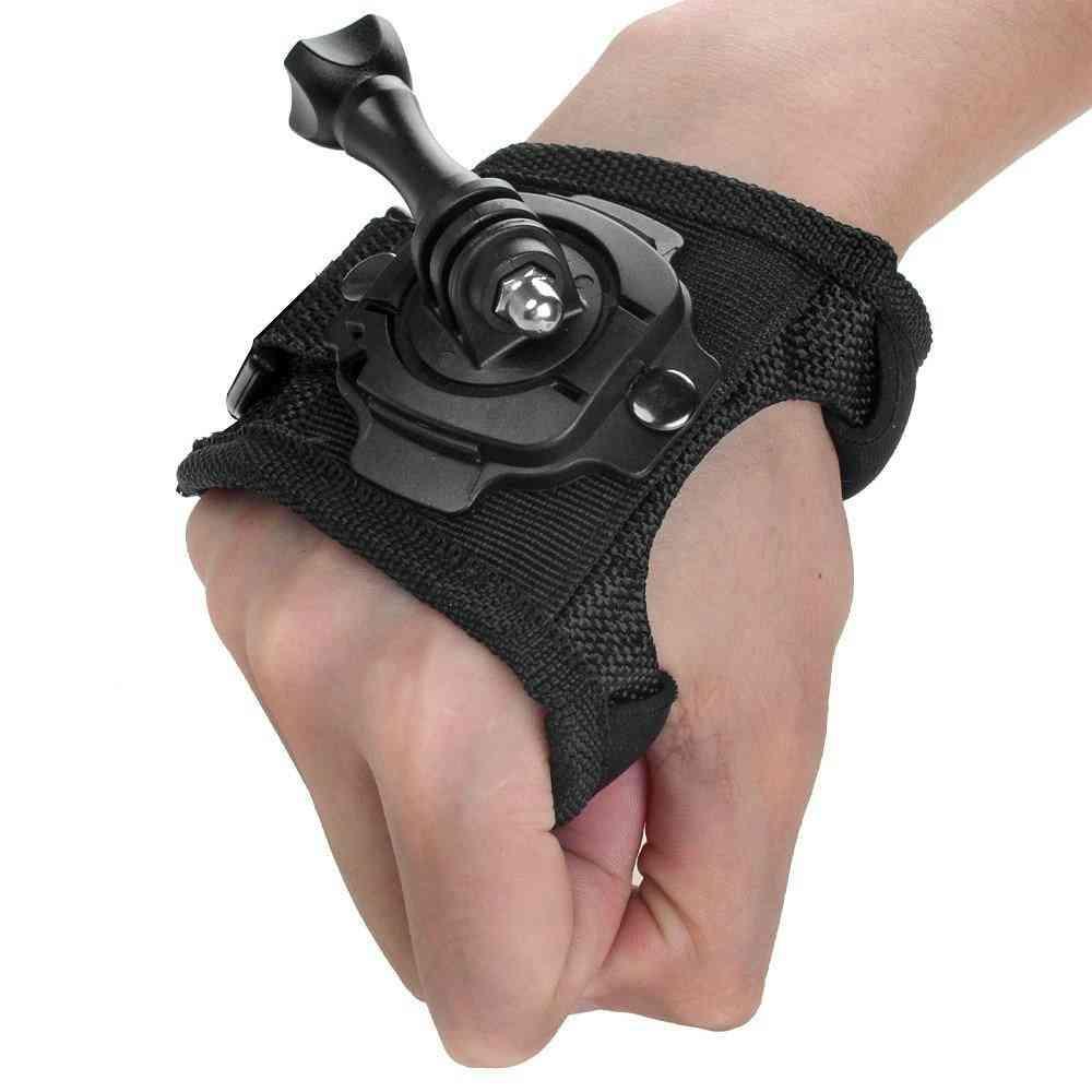 Glove Wrist Band / Hand Strap Belt Tripod Mount For Gopro