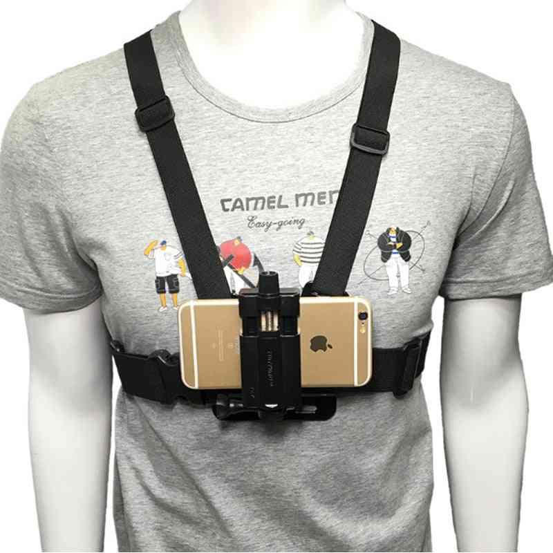 Phone Strap Holder Chest Mount Harness/ Headband Belt/backpack Clip Clamp/bracket