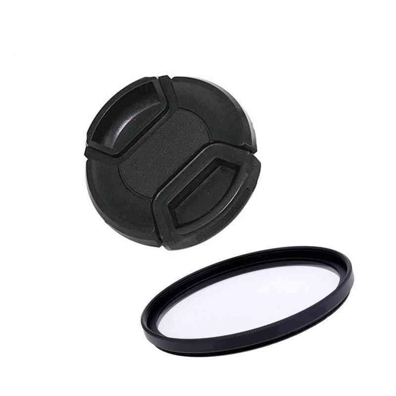 Ultra-violet Uv Filter+lens Cap Lens Protector Cover For Camera
