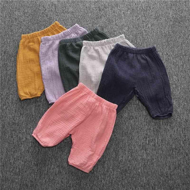 Casual Cotton Linen Newborn Baby Shorts Summer