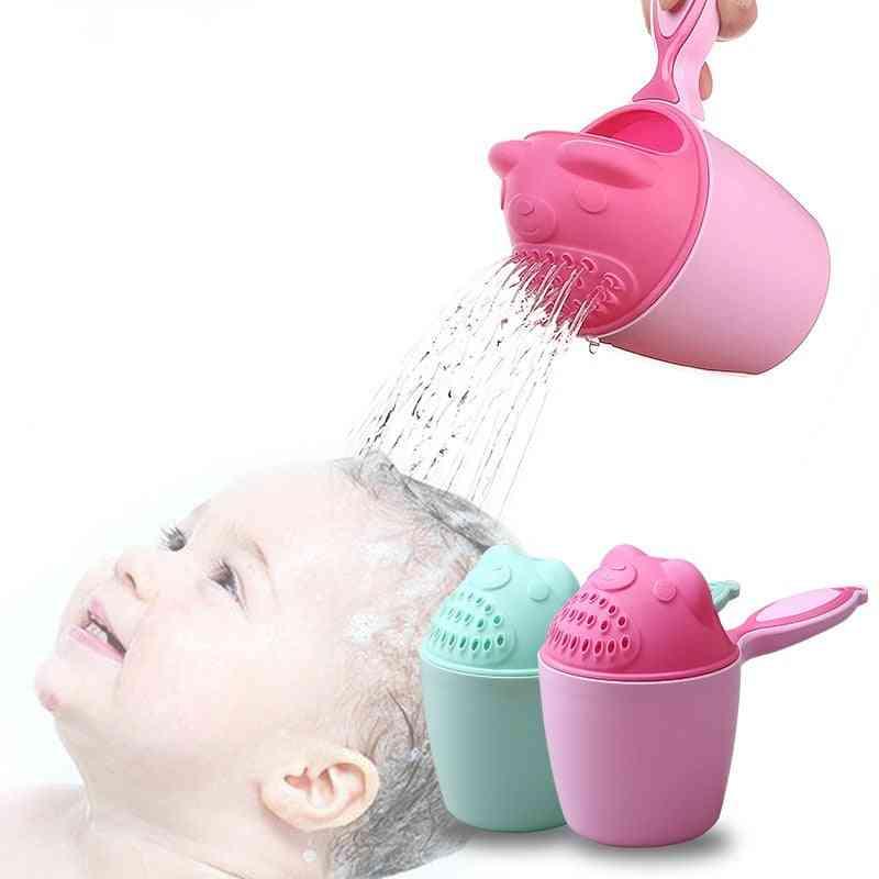 Cute Cartoon Baby Bath Caps, Shampoo Cup For
