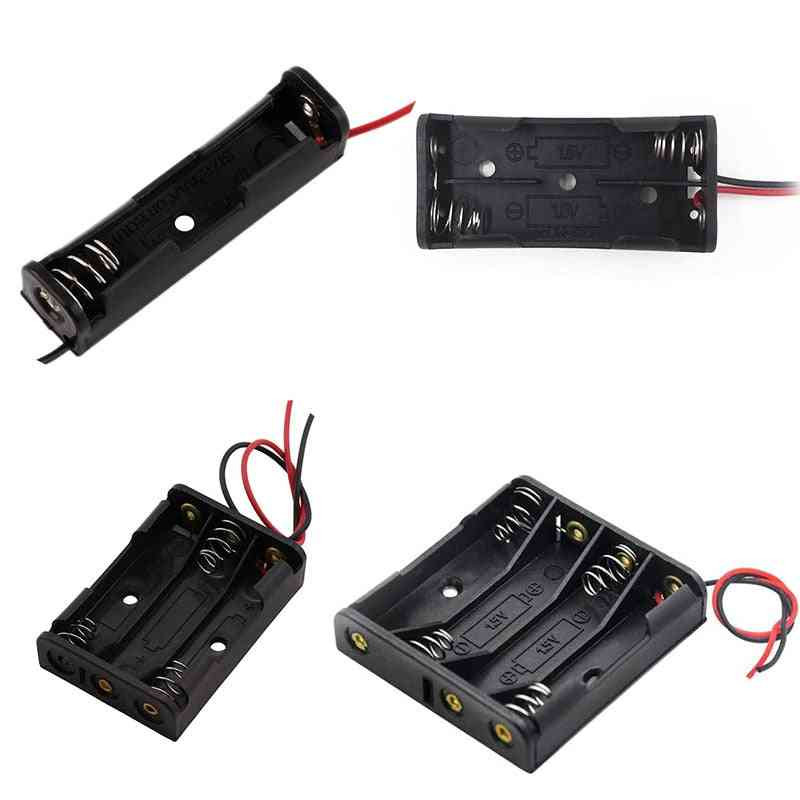 Battery Box Case Holder With Wire Leads Battery Box Connecting Solder