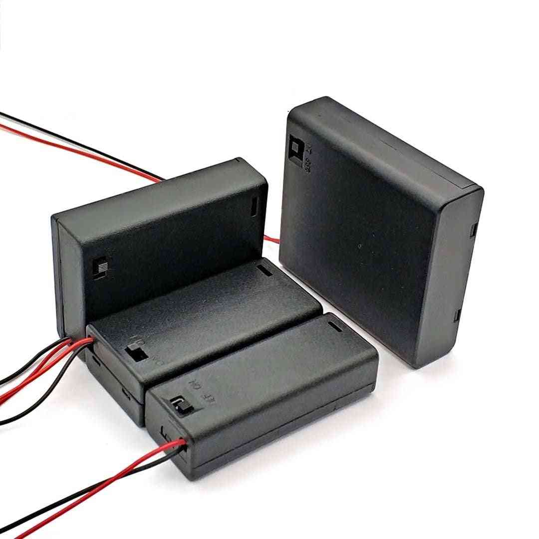 Slot Aa Battery Holder Box Case Holder With Switch