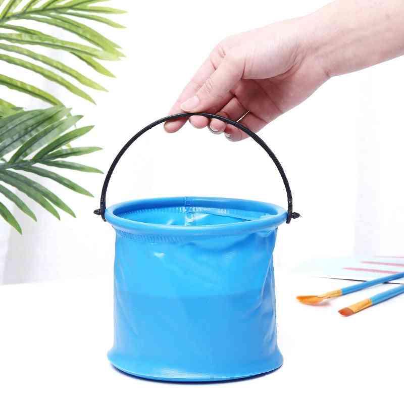 Layered Folding, Bathroom Round Portable Wash Bucket