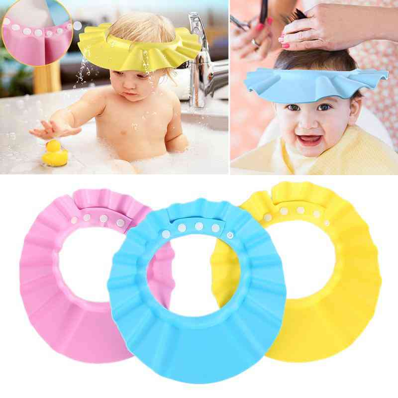 Chirdren Shower Shampoo Cap Wash Hair Kids