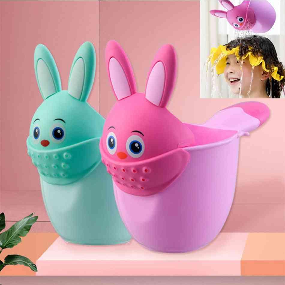 Newborn Child Shower Shampoo Cup Shampoo Cap Baby Cartoon Rabbit