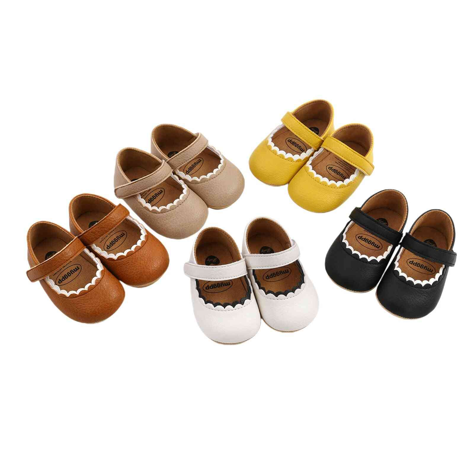 Soft And Comfortable Prewalker With Hook And Loop Princess Shoes