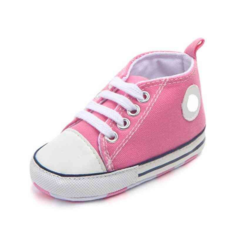 Canvas Classic Sports Sneakers, Soft Sole Anti-slip Baby Shoes