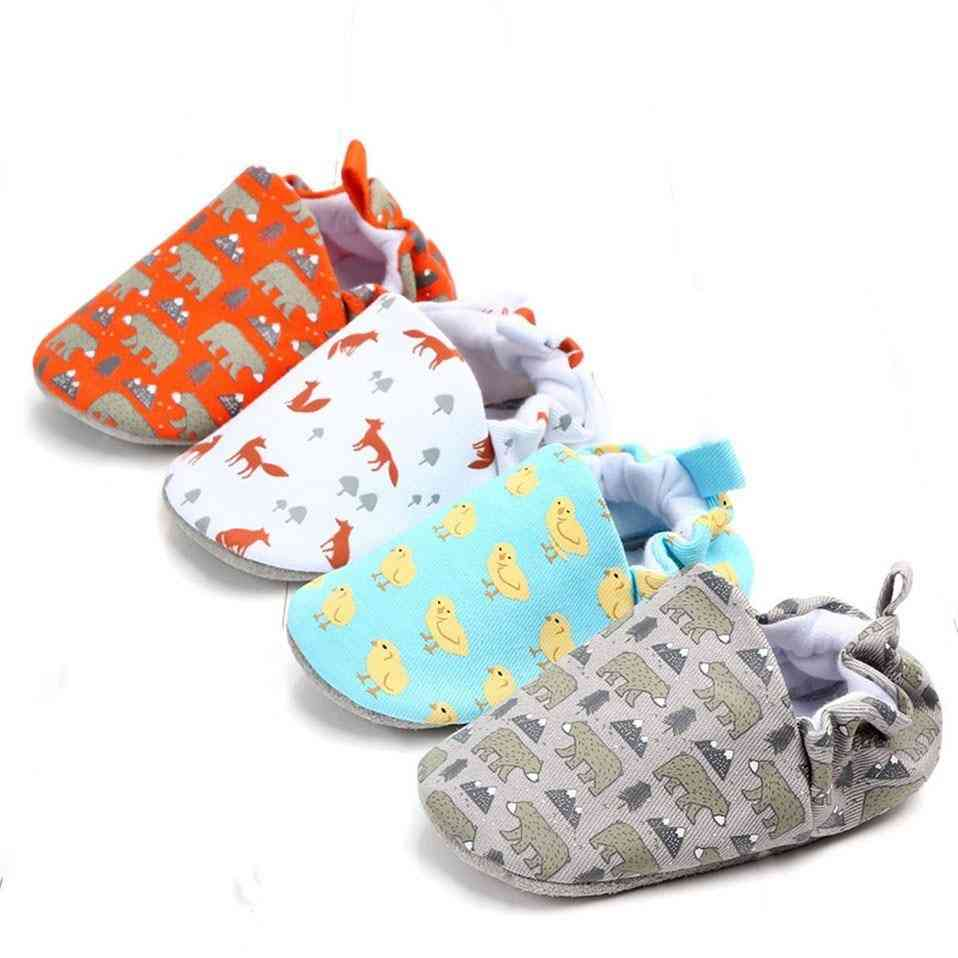 Soft Soled Infant Toddler Cute Animal Fox Bear Crib Shoes