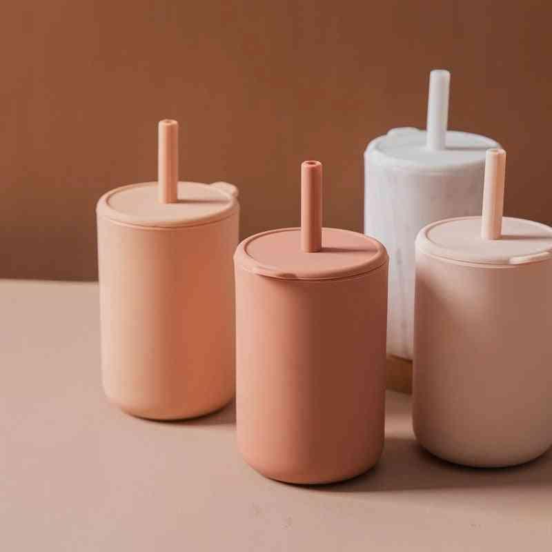 Silicone Feeding Drinkware Tableware Waterproof Sippy Cup