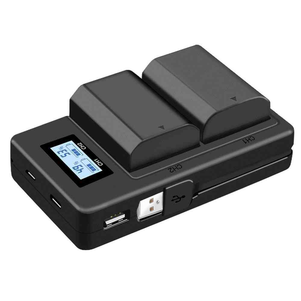 Lcd Digital Battery Charger For Sony Alpha