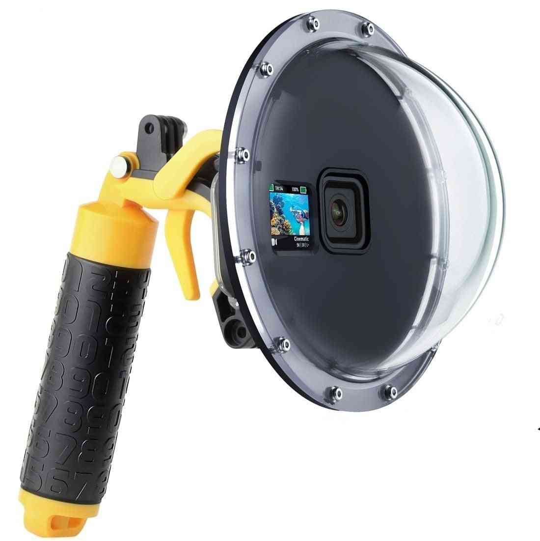 45m Waterproof Diving Dome Port Lens Cover Housing Case W/ Trigger Float Grip