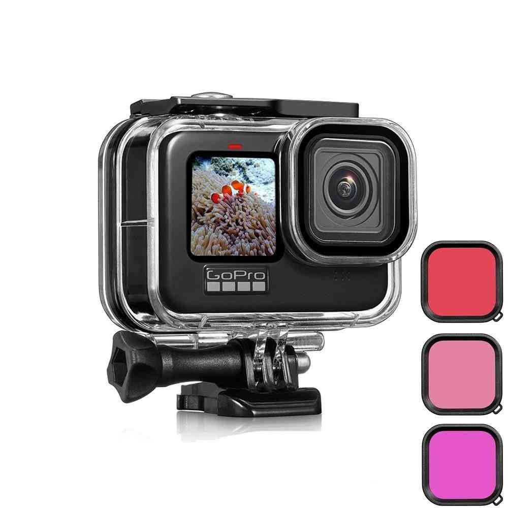 Waterproof Case For Gopro Hero 9 Protective Diving Underwater Housing Shell Cover