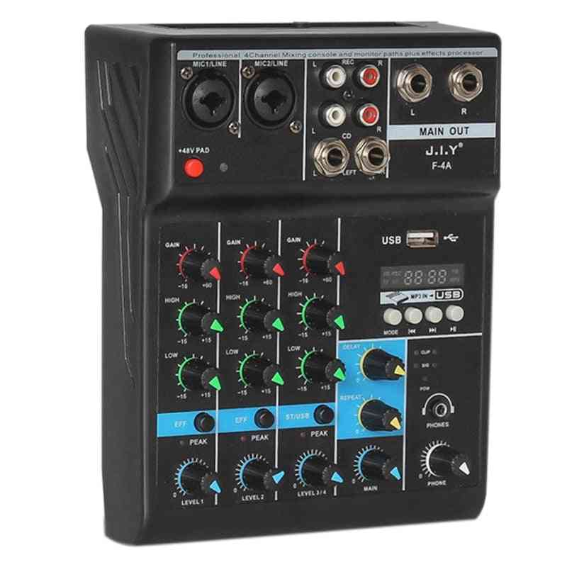 Professional 4 Channel Bluetooth Mixer