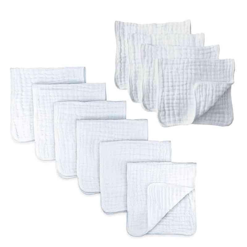 Baby Muslin Burp Cotton Hand Washcloths