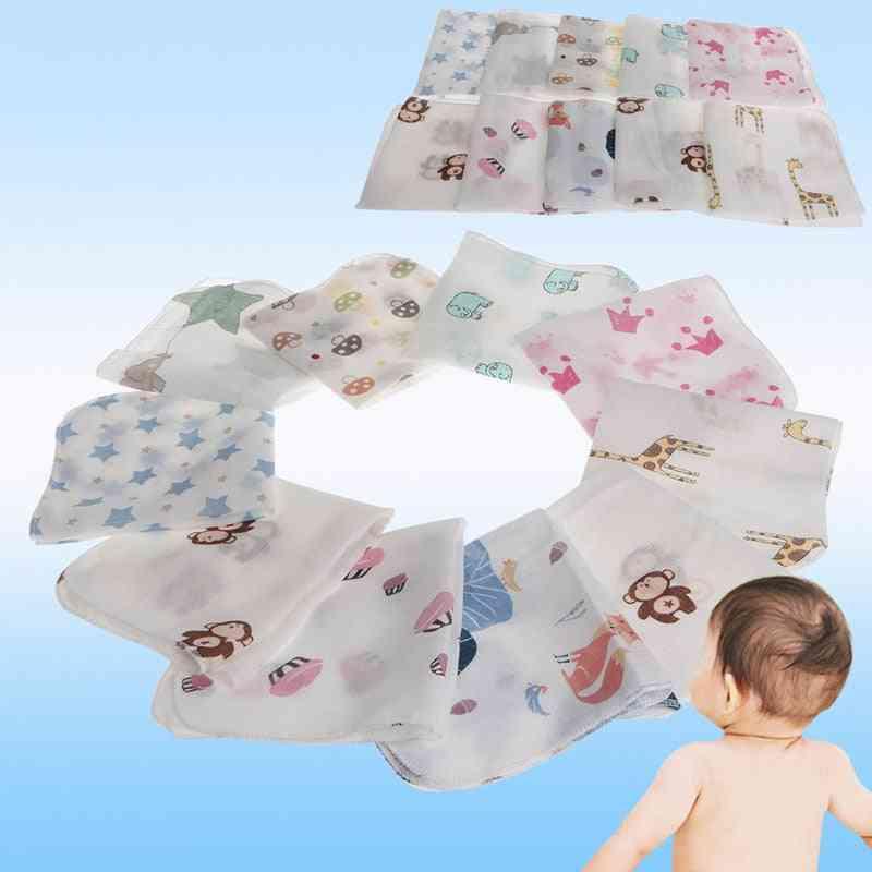Baby Infant Two Layers Muslin Towel, Handkerchiefs