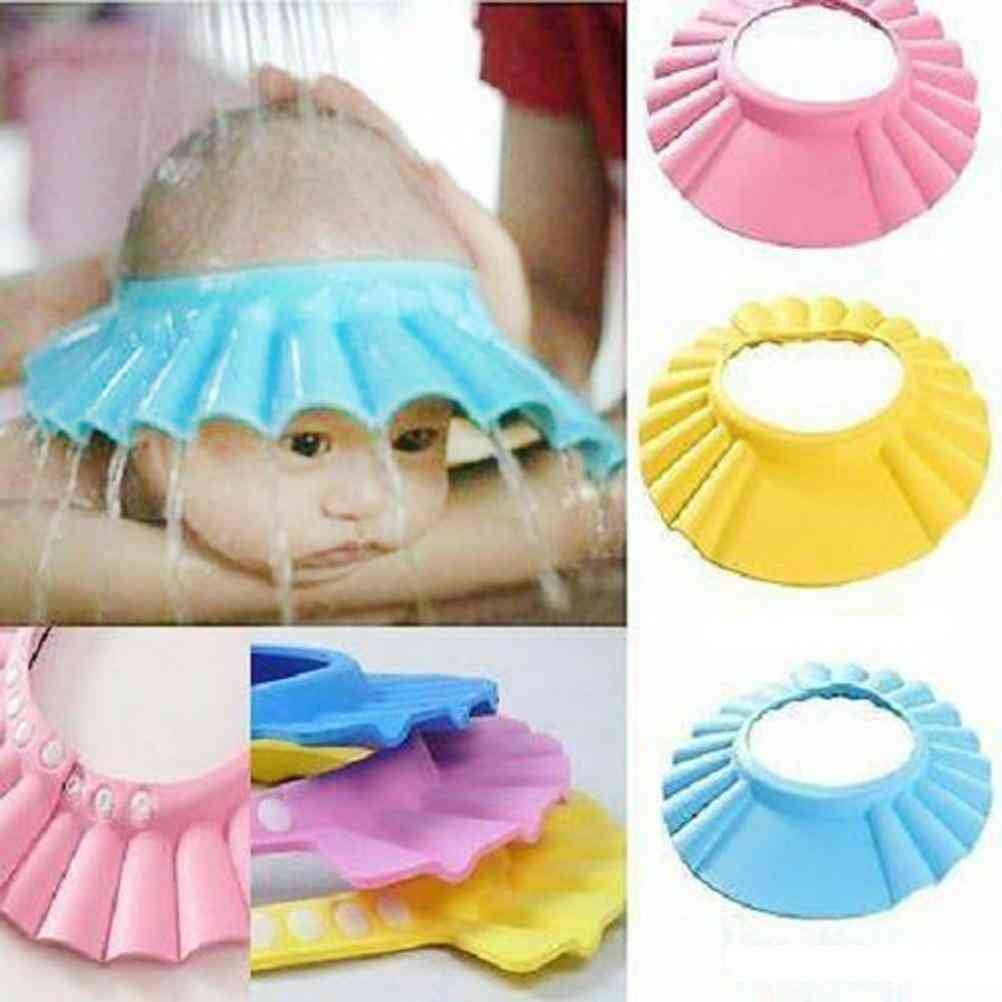 Ear Protection Soft Adjustable Baby Shower Cap