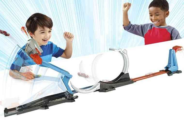 Track Car Toy Rocket Launching Trick Variety Leap