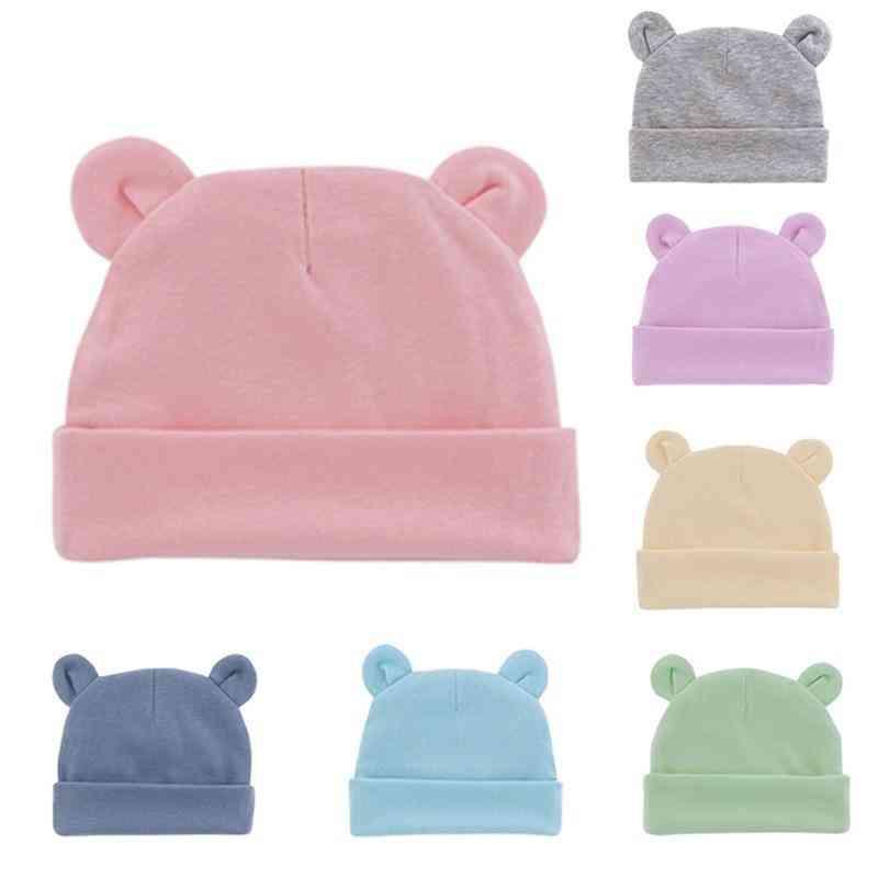 Cotton Soft Elastic Baby Cap For Boy