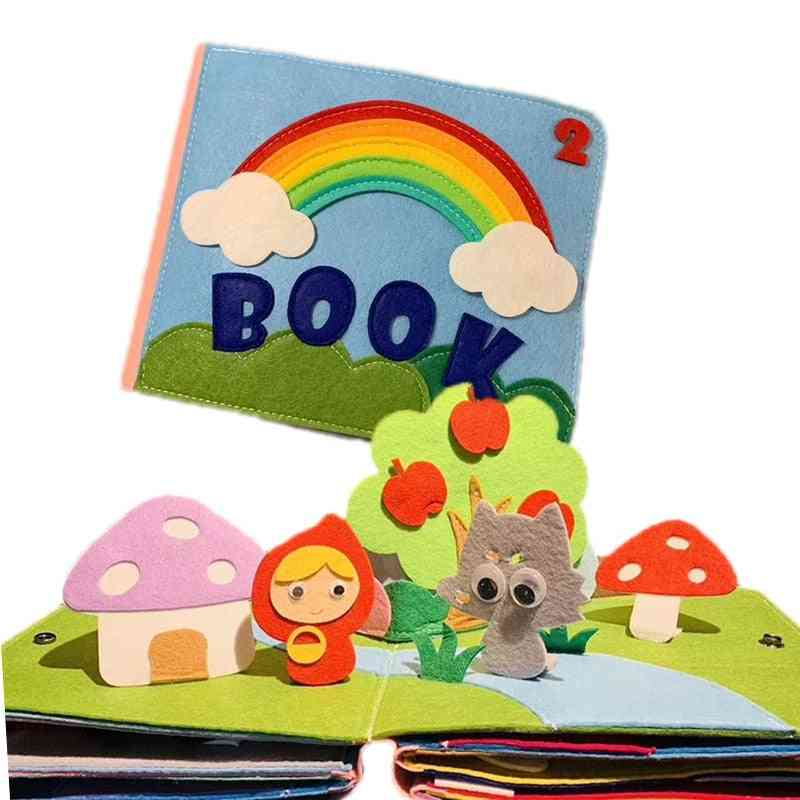 Early Learning Education Quiet Soft Washable Unfold Parent-child Interaction Book